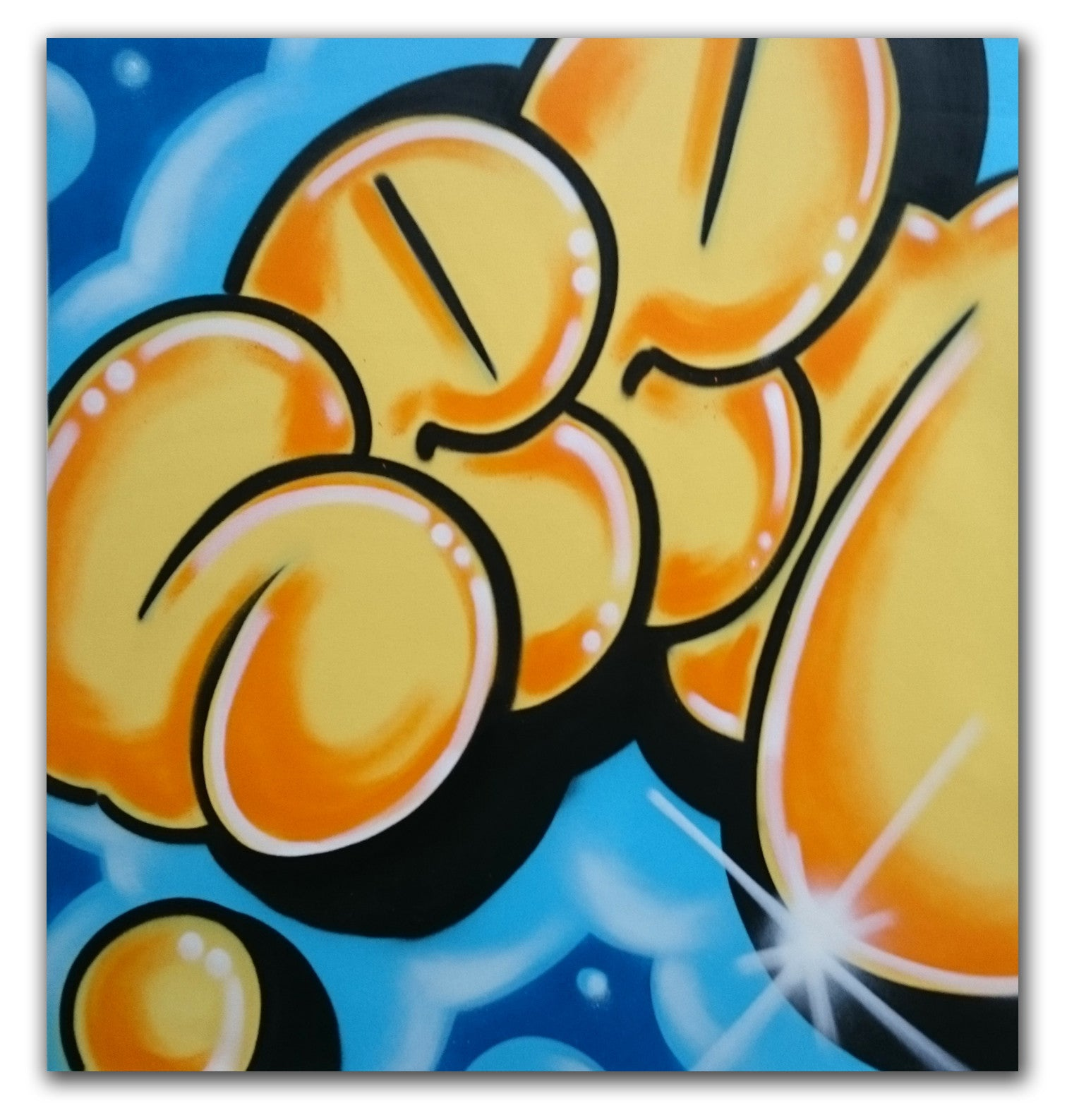 "GRAFFITI ARTIST SEEN -  ""Super Bubble 3""  Aerosol on Canvas"