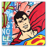 "GRAFFITI ARTIST SEEN  -  ""Superman""  Aerosol on  Canvas"