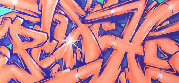 "GRAFFITI ARTIST SEEN  -  ""Super Wildstyle Psycho""  Aerosol on  Canvas"