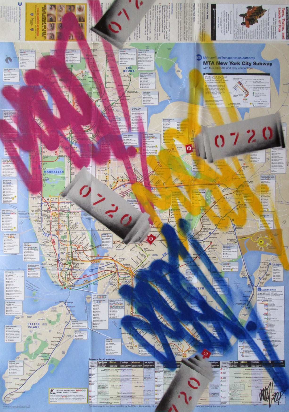 "GRAFFITI ARTIST SEEN -  ""Cans & Tags 5"" NYC Map"