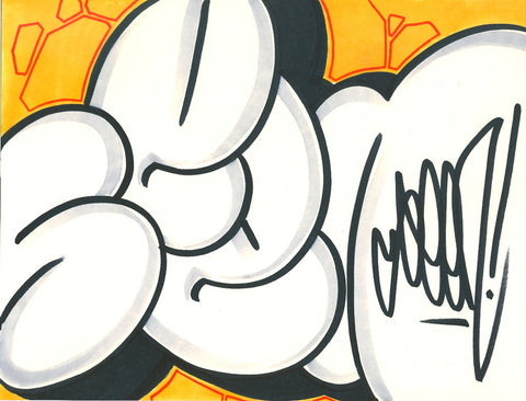 GRAFFITI ARTIST SEEN - Bubble 19- Drawing