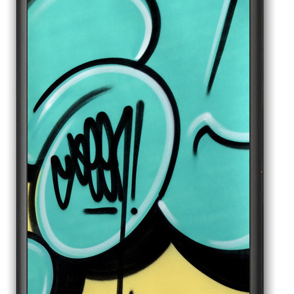 "GRAFFITI ARTIST SEEN -  ""Bubble #7""  Painting on paper"