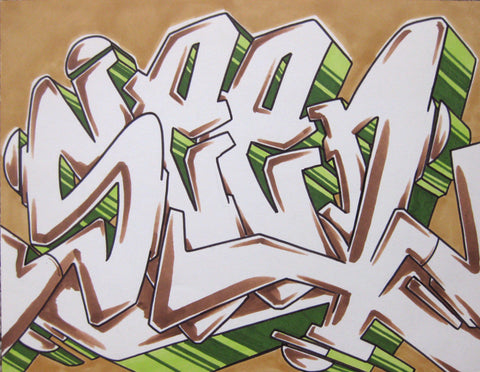 GRAFFITI ARTIST SEEN - WildStyle 27- Drawing
