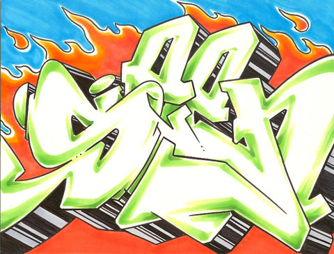 GRAFFITI ARTIST SEEN - WildStyle 2- Drawing
