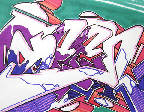 GRAFFITI ARTIST SEEN - WildStyle 32- Drawing