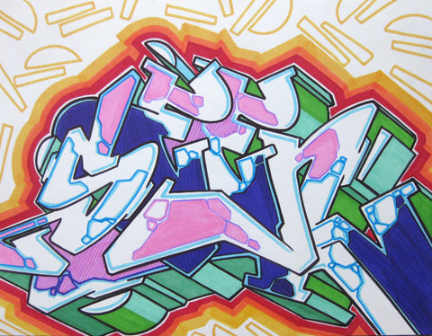 GRAFFITI ARTIST SEEN - WildStyle 33- Drawing