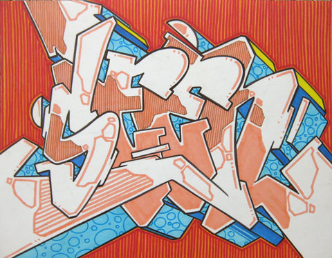 GRAFFITI ARTIST SEEN - WildStyle 36- Drawing
