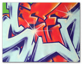 "GRAFFITI ARTIST SEEN  -  ""Wildstyle 12""  Aerosol on  Canvas"
