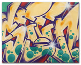 "GRAFFITI ARTIST SEEN  -  ""Wildstyle 16""  Aerosol on  Canvas"