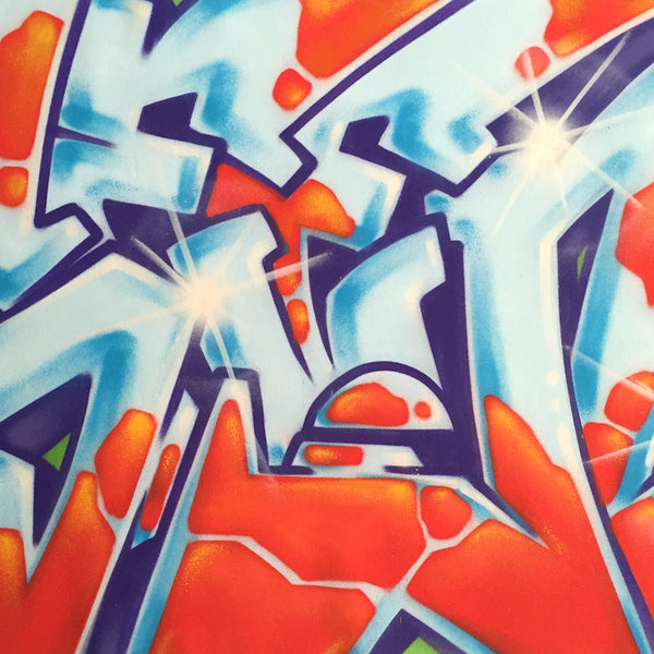 "GRAFFITI ARTIST SEEN  -  ""Wildstyle 17""  Aerosol on  Canvas"