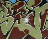 "GRAFFITI ARTIST SEEN  -  ""Wildstyle 20""  Aerosol on  Canvas"