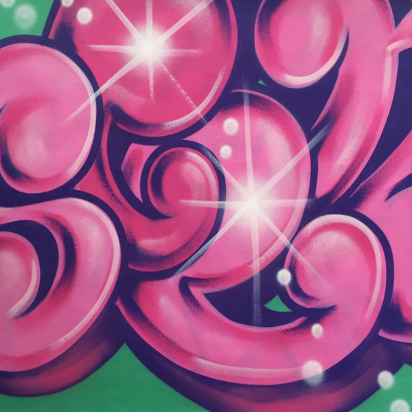 "GRAFFITI ARTIST SEEN  -  ""Wildstyle 4""  Aerosol on  Canvas"