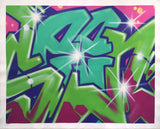 "SEEN   ""Wildstyle 6""  Aerosol on Canvas"