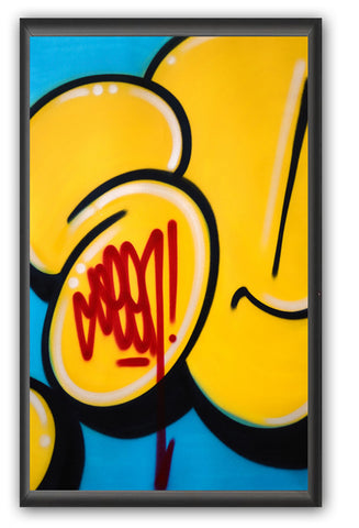 "GRAFFITI ARTIST SEEN -  ""Bubble #6""  Painting on paper"