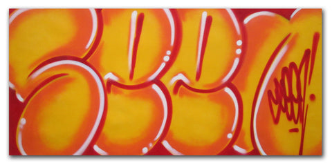 "GRAFFITI ARTIST SEEN - ""Classic Bubble 8""  Painting"