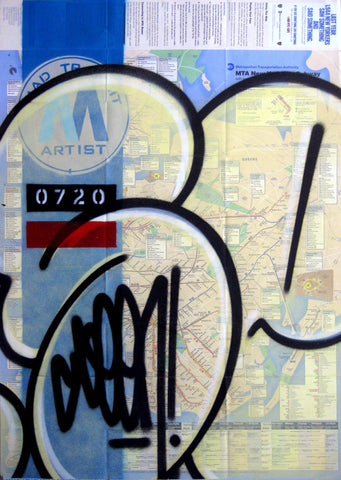 "GRAFFITI ARTIST SEEN -  ""Mad Transit 3"" NYC Map"