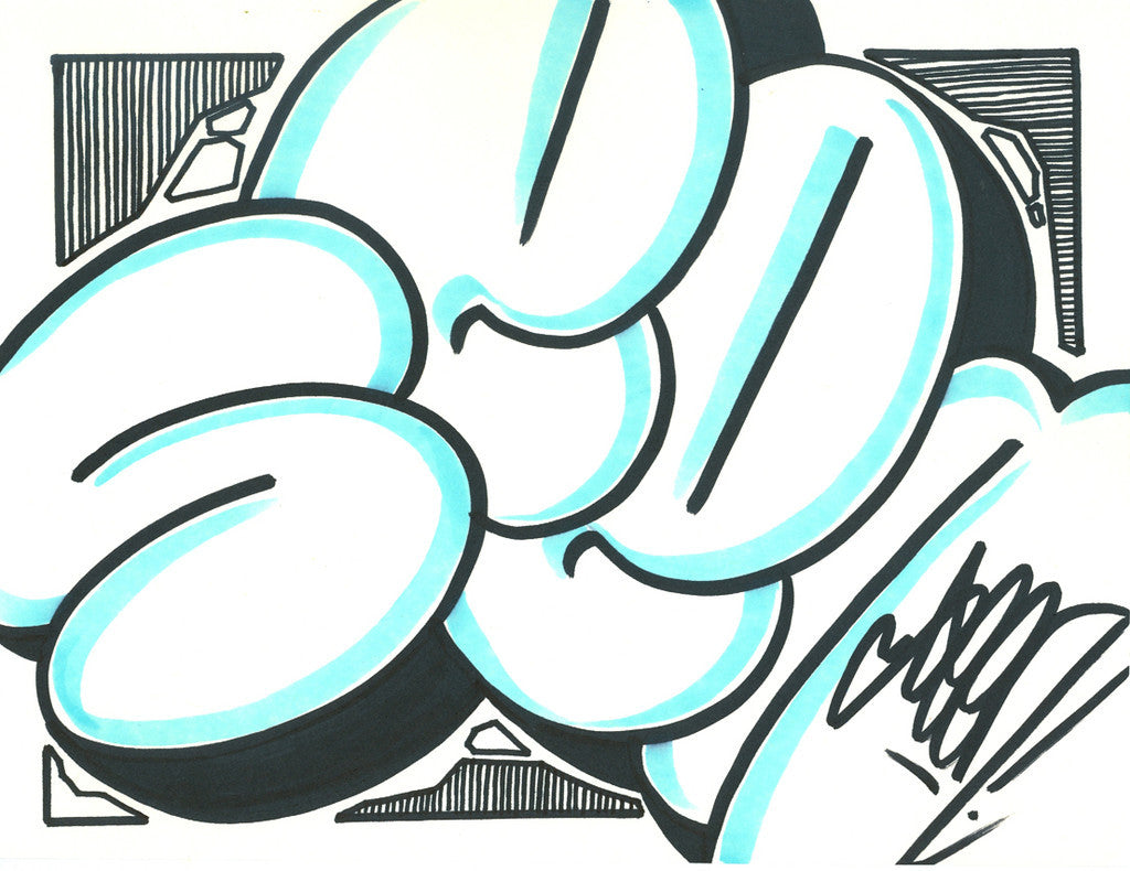 GRAFFITI ARTIST SEEN - Bubble 11- Drawing