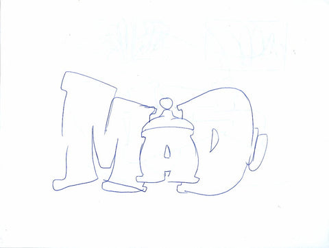 "GRAFFITI ARTIST SEEN - ""MAD"""