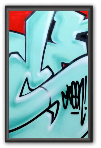 "GRAFFITI ARTIST SEEN -  ""Subway S #16""  Painting on paper"