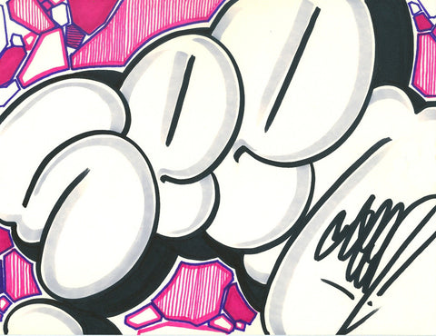 GRAFFITI ARTIST SEEN - Bubble SEEN 6- Drawing