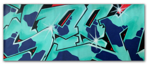 "GRAFFITI ARTIST SEEN -  ""SEEN WILD STYLE""  Painting on Canvas"