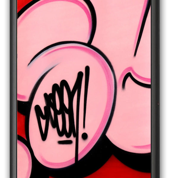 "GRAFFITI ARTIST SEEN -  ""Bubble #1""  Painting on paper"