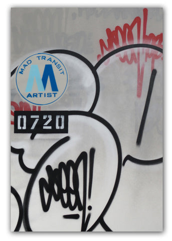 "GRAFFITI ARTIST SEEN -  ""Mad Transit #4 Bubble S""  Painting on Canvas"