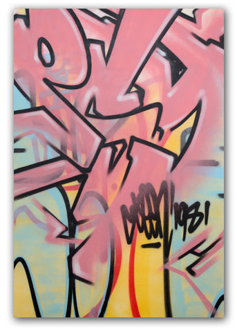 "GRAFFITI ARTIST SEEN -  ""Pink Psycho""  Painting on Canvas"