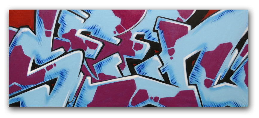 "GRAFFITI ARTIST SEEN -  ""SEEN WILD STYLE"" Painting"