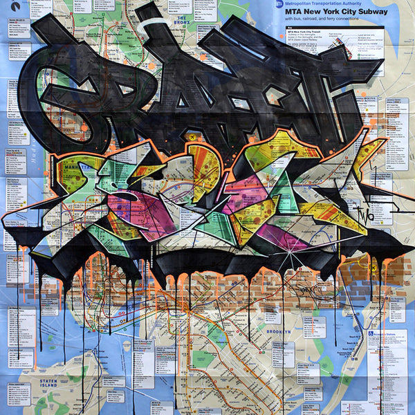 "SEN2 - ""Graffiti (SEN) "" NYC Map"