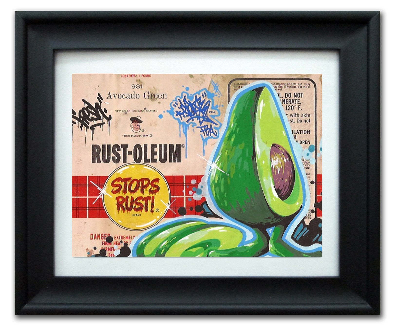"SERVE  - ""Rusto Avocado Green"" Vintage Label"
