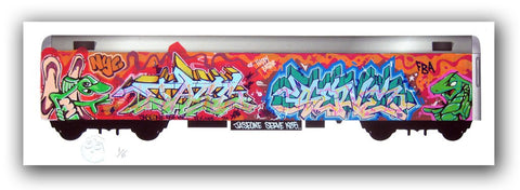 "SERVE & JASEONE  - ""Trains of Thought"" Print"