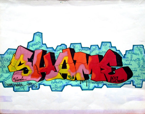"SHAME 125  ""Wanda""  Black Book Drawing"