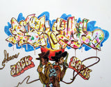 "SKEME - ""Back 2 Back"" Color Drawing"