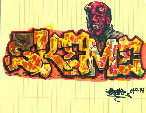 "SKEME - ""Hell Boy"" Drawing"