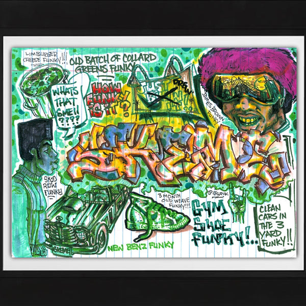 "SKEME - ""Make it Funky 4 Me"" Color Drawing"