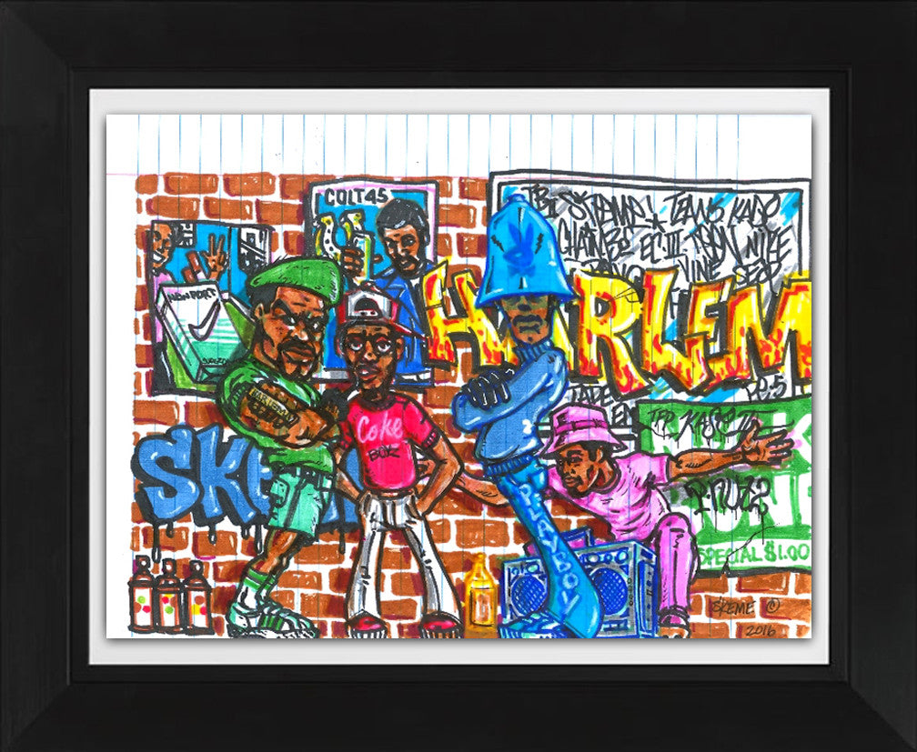 "SKEME - ""Harlem"" Color Drawing"