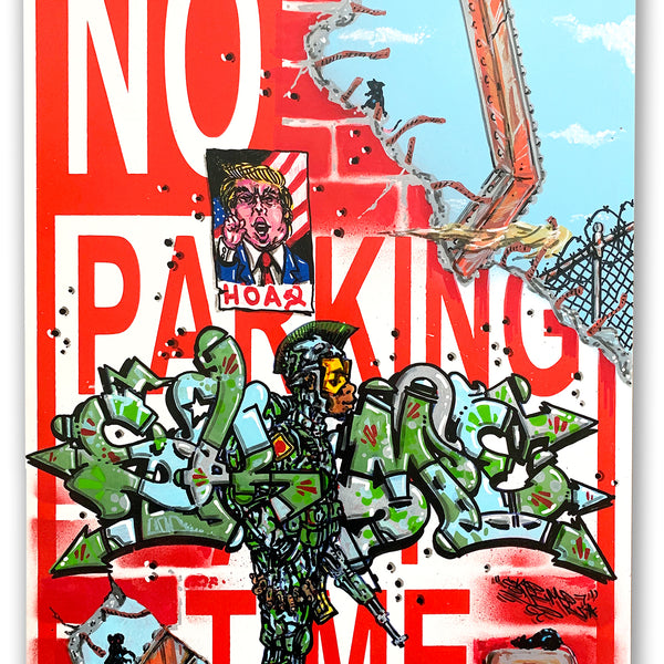 "SKEME - ""HOAX "" No Parking Sign"