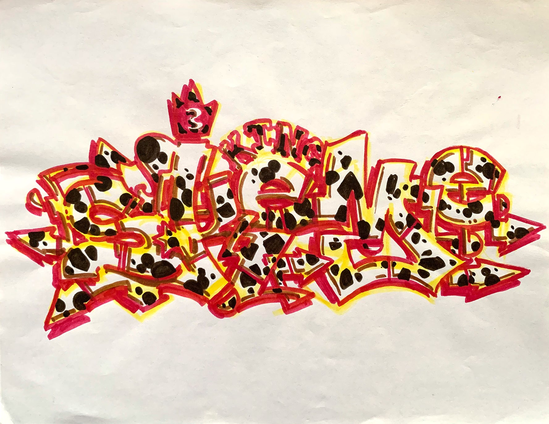 "SKEME - ""Ladder #3"" Drawing"