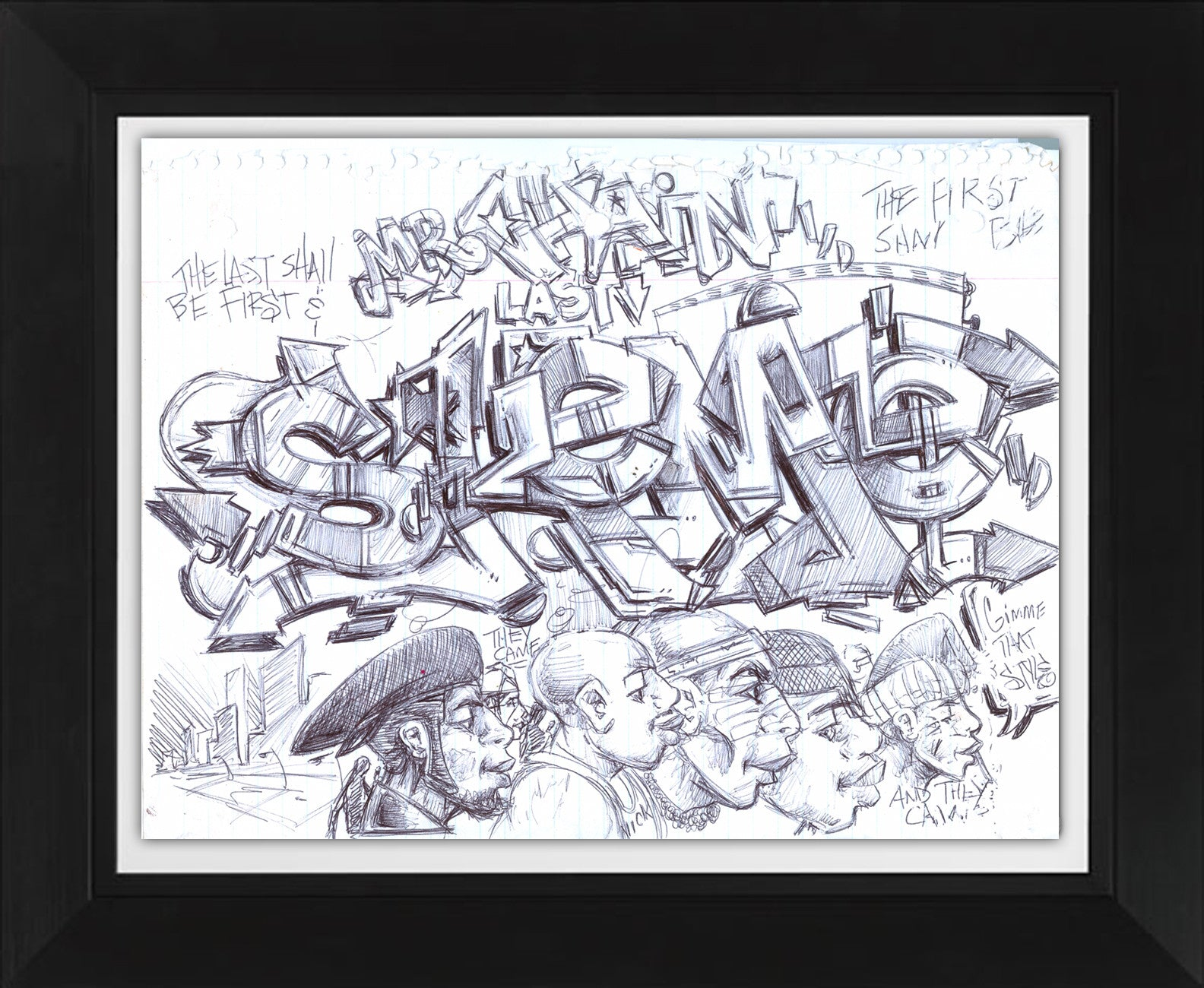 "SKEME - ""Changing Faces"" Drawing"
