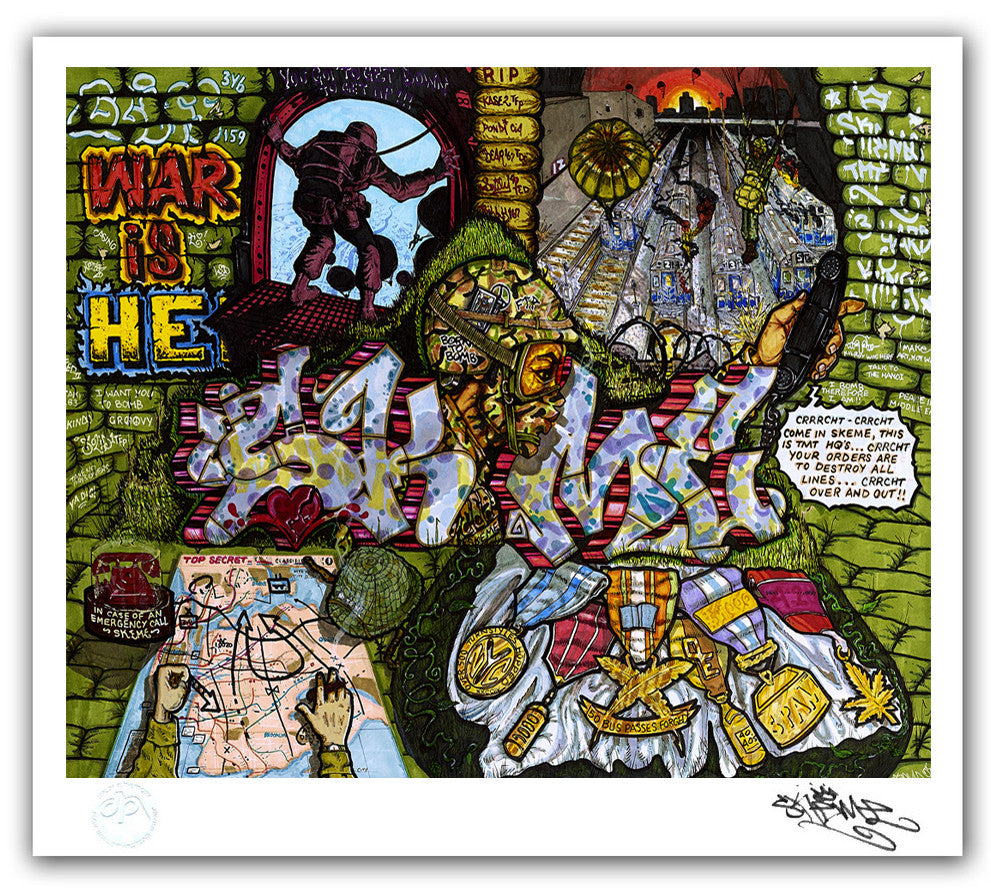 "SKEME - ""War Is Hell"" Print"