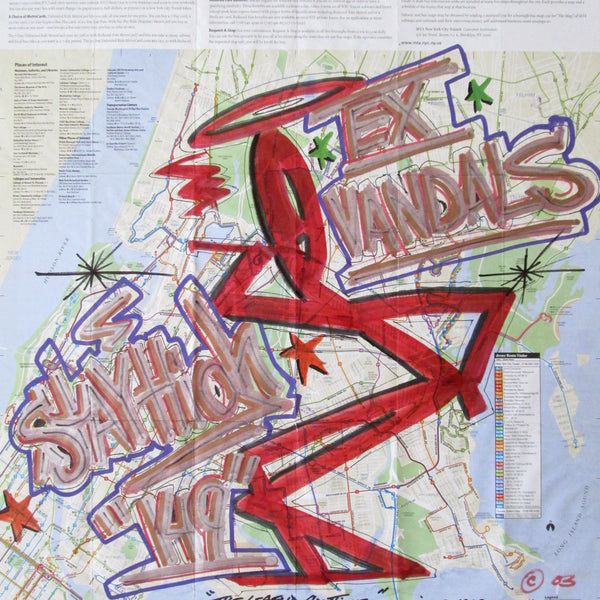 "STAYHIGH 149 - ""Bronx Bus Map"" NYC Map"