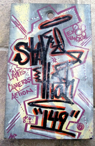 "STAYHIGH 149 - ""Lights, Camera, Action"" Painting on Metal"