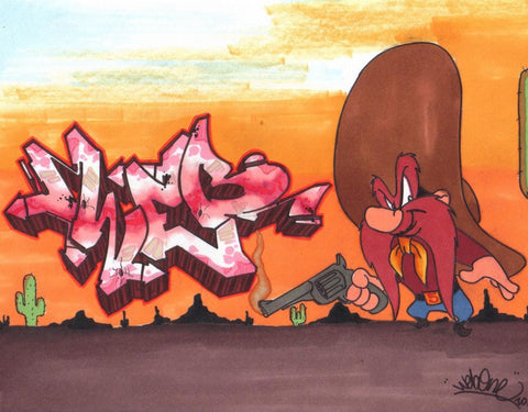 "WEB ONE - TC5 - ""Yosemite Sam""  Blackbook Drawing"
