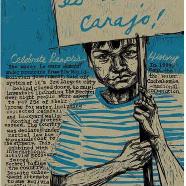 "SWOON - ""Cochabamba"" Peoples History Poster"
