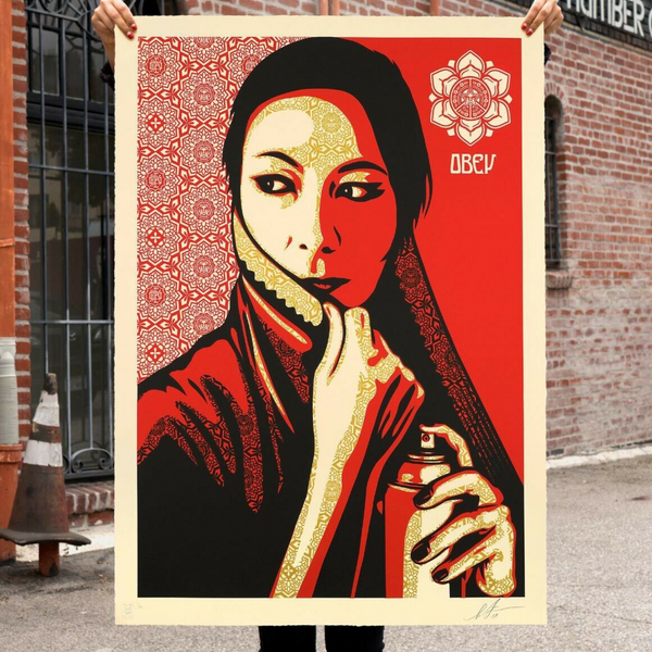 "SHEPARD FAIREY -""Commanda Large format"""