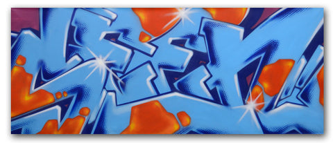 "GRAFFITI ARTIST SEEN -  ""SEEN 7""  Painting on Canvas"