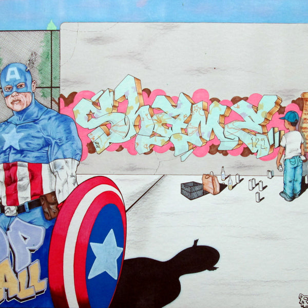"SHAME 125  ""Captain America""  Drawing"