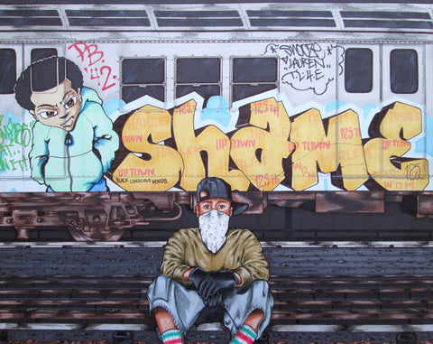 "SHAME 125  ""Black Concious Minds""  Drawing"