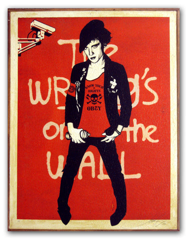 "Shepard Fairey  ""Writing on the Wall"" On Wood"
